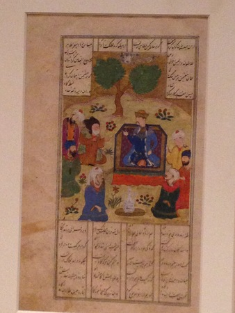 Iskandar and the Seven Sages from a Khamsa of Nizami
