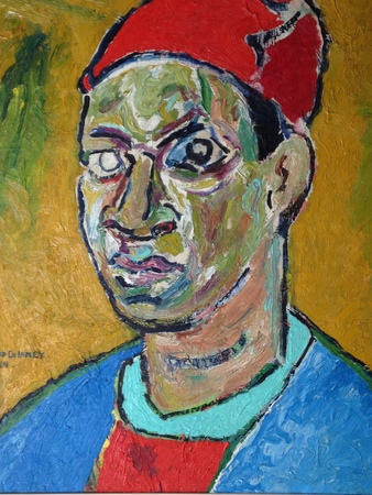 Delaney SelfPortrait with a Red Hat