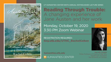 Distinguished Virtual Public Lecture Oct 19th UT Humanities Center